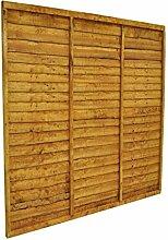 Forest cft66pk10hd 183x 4x 183cm Trade Lap Panel (1.83m hoch)–Pack von 10–Herbst Gold (10-)