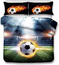 FOREVER 3D Fußball Druck Bettbezug Sets,