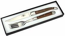 Forge de Laguiole - Steakmesser und Gabel je 1x im