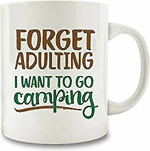 Forget Adulting I Want To Go Camping Coffee Mug