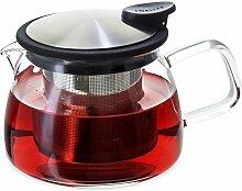 Forlife Bell Glas-Teekanne mit Sieb, 430 ml,