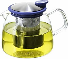 FORLIFE Bell Glas-Teekanne mit Sieb, 730 ml,