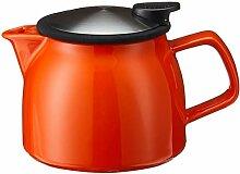 FORLIFE Bell Keramik-Teekanne mit Sieb, 470 ml,