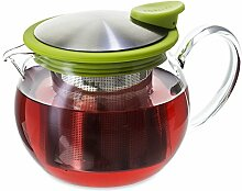 FORLIFE Bola Glas-Teekanne mit Sieb, 444 ml,