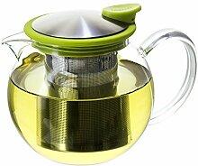 FORLIFE Teekanne aus Glas mit Sieb im Korb, ca. 74