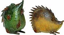 Forma Metall-Figur, Igel, brau, 29 x 9 x 38 cm,