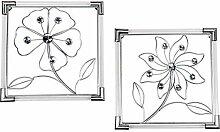 Formano 2er Set Wanddeko, Wandbilder Blumen