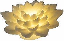 Formano 620798 Kerze Lotusblüte LED Creme 15cm 1