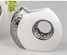 Formano 764638 Moderne Design Vase mit Loch Weiß