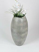 Formano Bodenvase, 70 cm, grau-ma