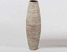 Formano Bodenvase, 80 cm, creme-braun