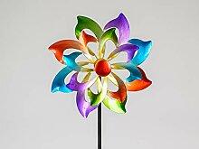 Formano Buntes Windrad Blume 122x30 cm