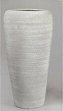 formano Deko Bodenvase Rustik H. 51cm grau weiß