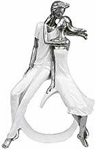 Formano Deko Figur Büste Paar Silber auf weißem