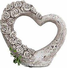 formano Deko Herz aus Keramik, 20 cm hoch,