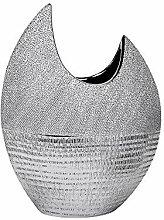 Formano Deko Vase, 21 cm, Silber