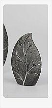 Formano Deko Vase 'Baum', 35 cm, silber