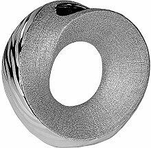 Formano Deko Vase 'Wave', 23 cm, silber