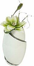 Formano Deko Vase mit Kunstblume Magnolie, Höhe