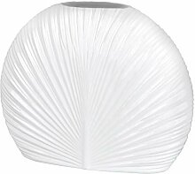 Formano Deko Vase Relief oval, 34x27 cm, weiß