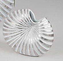 formano Deko Vase Shell H. 15cm weiß + Silber