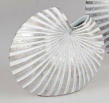 formano Deko Vase Shell H. 21,5cm weiß + Silber