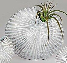 formano Deko Vase Shell H. 31cm weiß + Silber