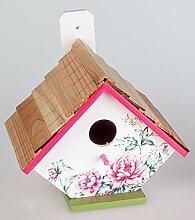 formano Deko Vogelhäuschen Vogelhaus handbemalt,