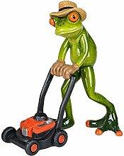 Formano Dekofigur Frosch Gärtner mit Rasenmäher