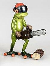 Formano Dekofigur Frosch mit Kettensäge, rot