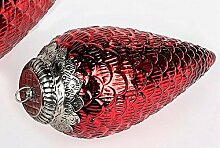 Formano Dekohänger Zapfen Farb Glas Antik Rot 30