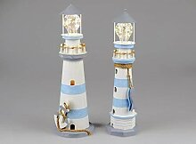 Formano DekoLeuchtturm mit LED-Licht, 43 cm,