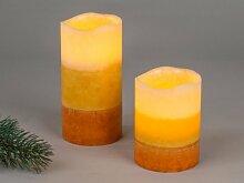 Formano elektrische Kerze mit LED Licht braun gold