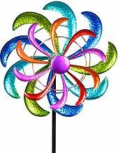 Formano Farbenfrohes Windrad 124x30 cm