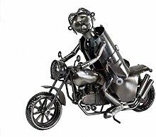 Formano Flaschenhalter Motorrad aus Metall 44 cm.