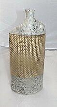 Formano Flaschenvase 30cm creme braun 726049 Dekoidee Geschenkidee Tischdeko Vase