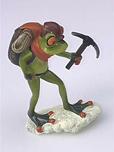 Formano Frosch Bergsteiger Wanderer Deko Figur