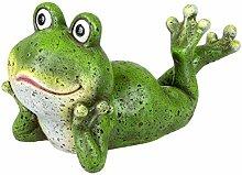 Formano Frosch Figur liegend 40 cm Gartenfigur