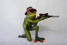Formano Frosch Jäger Deko Figur Dekoration