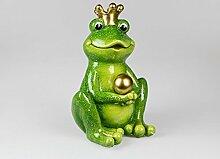 Formano Froschkönig mit Kugel, 40 cm, grün-gold