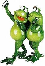 Formano Froschpaar 'Rudi' mit Handy, 20 cm, mehrfarbig