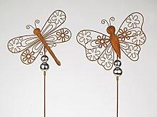 Formano Gartendeko Gartenstecker Set Schmetterling