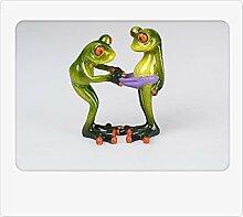 Formano Gartenfigur Froschpaar 14cm, hellgrün