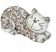 Formano Gartenfigur Katze liegend Dekofigur