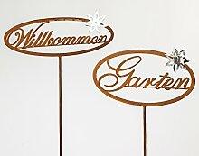Formano Gartenstecker Rostdeko Gartendeko Set aus