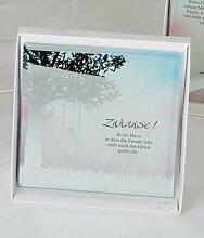 Formano Glasbild mit Spruch Zuhause! 15x15 cm