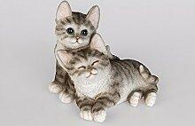 Formano Katzenpaar, 19 cm, naturfarben