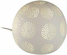 Formano Kugel-Lampe 'Kreise', 16 cm, weiss