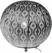 formano Lampe Kugel Capri silber, 25 cm