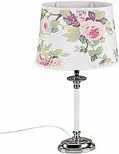 Formano Lampe mit Rosen-Print, Höhe: 48 cm, Oval,